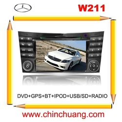 Benz W211 Car DVD GPS, ipod, USB, Touch screen,radio,bluetooth,,free 4G card with map+Free 4G Card with map !!!(China (Mainland))