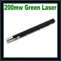 200mw High Power High Green Brightness Laser Pen (Black)Free Shipping