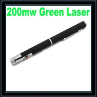 200mw 532nm Green Laser Pointer Pen (Black)Free Shipping SI029