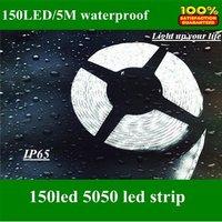 12V/24V 5050 SMD 5M 150LED full color Flexible Light led strip lights waterproof IP65 100M/lot,RGB/Red/green/blue/yellow/white
