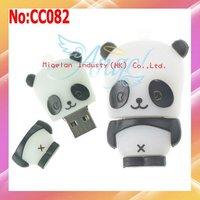 Wholesale1GB 2GB4GB 8GB 16GB 32GB 64GB plastic Panda USB Flash Drive with High Speed Chip Free Shipping  #CC082