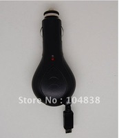 micro retractable car charger for nokia,mot,htc,etc.Free shipping