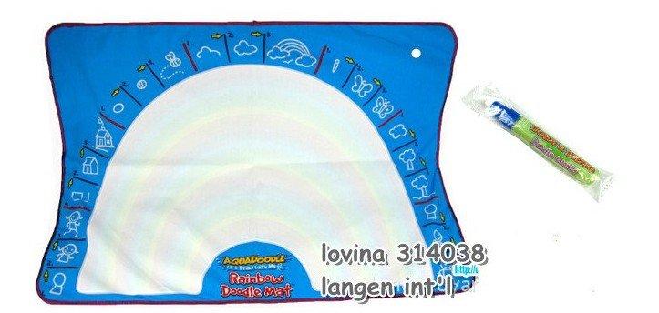 Free ship rainbow1 piece Dora&Diego big size 90*65CM American Aquadoodle Aqua Doodle Mat&1 Magic Pen/Water Drawing Replacement(China (Mainland))