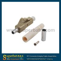 LC Fiber Optic Connectors, MM, 3.0 mm, Ivory housing