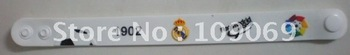 Free shipping wholesale Real Madrid white hand ring/hand belt/wrist strap