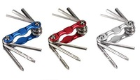 Hot sales 6 in 1 funciton  bicycle Bike Cycling Hex key Allen key set  More colour + Free Shipping