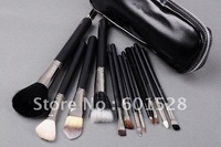 Wholesale free shipping 12 PCS brush set of high quality colour 12 makeup brush  + brush package+ gift