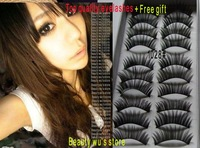 wholesale price 100 boxes Mixed Style Black false eyelashes 1028#