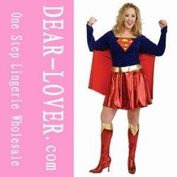Plus Szie Superwoman Costumes Wholesale, Great Women Costume LC8349P+ Cheaper price + Free Shipping Cost + Fast Delivery(China (Mainland))