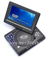 New 7.5'' PORTABLE CAR DVD PLAYER USB & SD CARD GAME AV-IN & OUT FM TV RADIO  DHL.EMS.FedEx