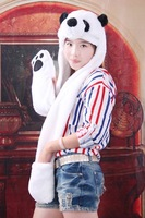 Cartoon Animal Panda Hat Hats Plush Warm Winter Hat Cap/Beanie Earmuff Scarf Gloves