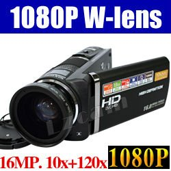 Free Shipping 10MP CMOS 1080P 3.5 Inches Touch Screen Digital Video Cameras with Wide-angle lens Digipo HDV-S790