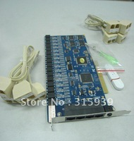 16-Channel PCI telephone Voice Recorder Card with free PC software