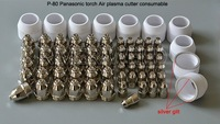 P80 Panasonic Air Plasma Cutting Cutter Torch Consumables, Plasma TIPS,Nozzles 60/80/100Amp, Plasma Electrodes, 70PK