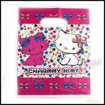 150pcs/lot New Wholesale Cute Cat Plastic Packaging Gift Carrier Bags 18x23cm 120031