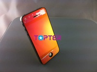 transparent mirror conversion/full assembly /front LCD+touch glass+bracket+back cover+home button for iphone 4G red 1pc