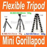 2014 New Mini Gorillapod Type Flexible Ball octopus Leg Mini Digital Camera Tripod Flexible Tripod size L Free Shipping