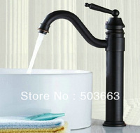 Luxury Deck Mounted Oil Rubbed Kitchen Basin Sink Faucets Black Mixer Taps New b8445A