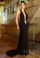 New Style Halter Beaded Applique Chiffon Evening Dress RO215