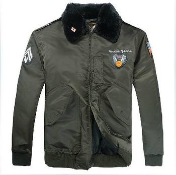 Free shipping 2014 winter hot sale men outdoor leisure prevent rain N3 warm air force flight thick jacket J-27
