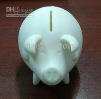 Diy Rubber  pig box diy platform art  saving money box for diy hand-painted free shipping