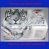 Scher-khan Magicar Russian version High class two way car alarm system Security Monitor Engine Starter