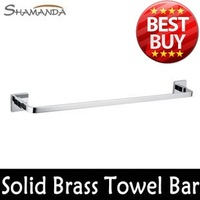 Free Shipping Bathroom Products Solid Brass Chrome (60cm)Single Towel Bar,Towel Holder,Towel Rack,Bathroom accessories-99008