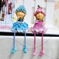 New arrival!!!Free shipping handcraft painted resin decoration one pair of flower fairy with five shapes,MOQ: 1 pair