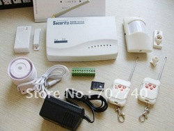 2011 factory promotion Newest wireless and wired Intelligent GSM security Alarm System, With 2GSM Bands-2&Wholesale(China (Mainland))