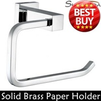 Free Shipping Toilet Paper Holder,Roll Holder,Tissue Holder,Solid Brass Chrome Finished-Bathroom Accessories Products-94007