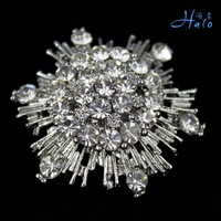 P168-427 Free Shipping Silver Plating Rhinestone Brooch Pins Crystal Alloy Sea Star Alloy Fashion Costume Jewelry