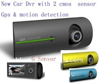 Car Black Box ! Car DVR Camera with Dual Lens + GPS Logger + 3D G-Sensor ! 2011 New Design X3000 Wholesale !