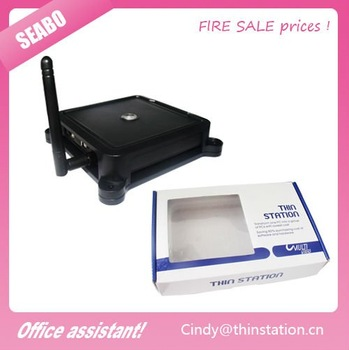 2011 Wholesale wireless cloud terminals  mini PC station thin client n380W  built-in WINCE6.0  office/hotel assitant promotion