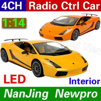 Free shipping !RASTAR Lamborhini 1:14 4ch Radio Control Car Model car toy Orange(Yellow)