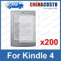 Matte Screen Protector,Anti Glare Film Guard for Amazon Kindle 4,200pcs/lot Free Shipping