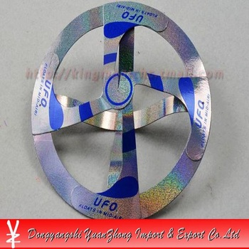 Promotion! 50pcs/lot magic suspended UFO/air floating magic UFO/display box packing/magic props