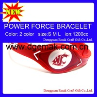 Hot,New Popular power force bands-WSU COUGARS,freeshipping