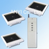 3 Receiver & 1 Transmitter+1 Gang Wireless Remote Control Wall Light Switch System+LCD Touch Screen LED Indicator+Free Shipping
