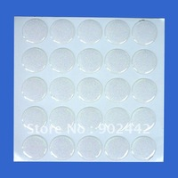 free shipping: 1000 pcs/lot glitter clear epoxy doming sticker for making bottle cap necklaces