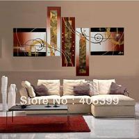 Modern Art Abstract Huge Oil Painting On Canvas ,Abstract Oil Painting 5pc Wall Art ,Love Art Decoration   JYJZ031