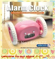 Free shipping Clocky Run Away Alarm Clock with Wheels 24pcs/lot