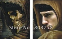 Factory Direct Sales! High Quality 30*40cm Man & Skull Changing Images HD PET Lenticular 3D Picture, more design, Free Shipping