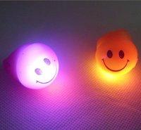 Free shipping 36pcs/lot   led ring flashing finger lights flashing ring flashing smile face ring