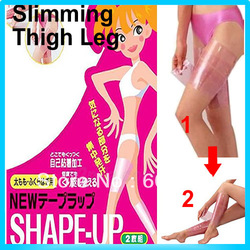 Sauna Slimming Slim Lost Weight Shape Up Belt Big Leg Thigh Calf Waist Anti Cellulite Thin Belt slimmer(China (Mainland))