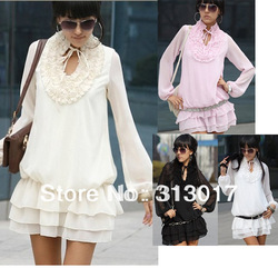 S-M free shipping new ladies dress women's dress women clothing women's garments ladies dress#051(China (Mainland))