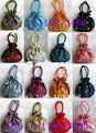 Free shipping job lots 25pcs embroidery elasticity Silk bags Purses XMAS gift bag BD01 XMAS gift bag BD01