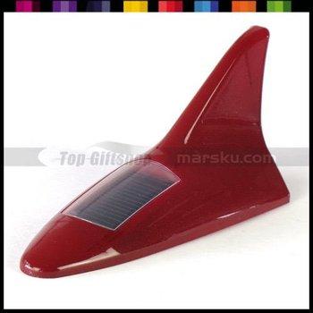 Shark Fin Auto Car Motorcycle LED Solar Rear Tail Light Lamp With Antenna #2458