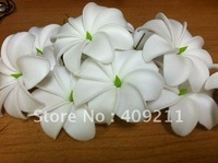 8cm KL111 FREE SHIPPING NEW ARRIVAL HOT SALE WHITE 288PCS 8CM TIARE FOAM FLOWER HAWAIIAN FOAM FLOWER HAIR FLOWER WITH STEM