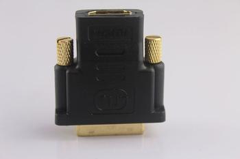 1Pcs/lot DVI 24+1 Male To HDMI Female Gold Converter Adapter  #655