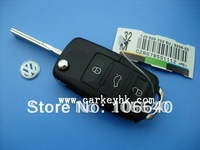 20pcs/lot  VW 3 button folding flip remote key shell blank cover case fob